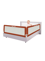 Baby Safe Safety Bed Rail, XL, 120x42 cm, Brown