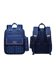 Sambox Star School Backpack Bag for Kids with Pencil Case, Star, Navy