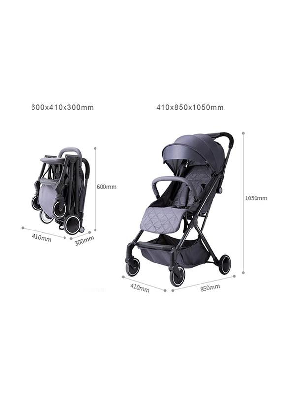 Teknum Travel Lite Stroller with Sunveno Diaper Bag and Hooks, Grey