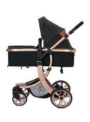 Teknum Story 3-in-1 Luxury Pram Baby Stroller, Black
