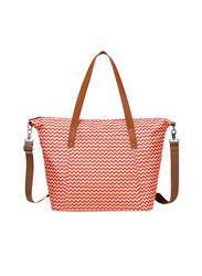 Little Story Avril Tote Diaper Bag, Tanned Orange
