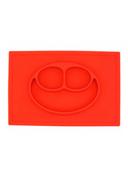 Eazy Kids Silicone Square Plate, Red