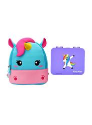 Nohoo Bento Unicorn Baby Backpack Bag, with Lunch Box, Purple