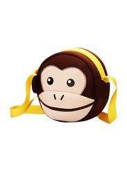 Nohoo Jungle Sling Bag for Kids, Monkey, Brown