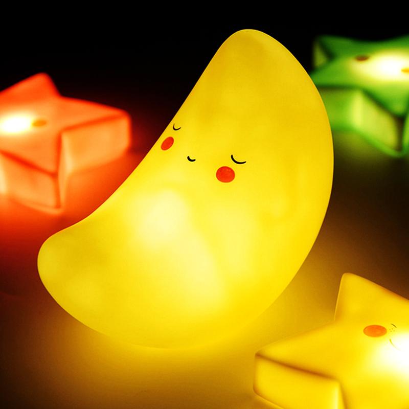 Eazy Kids Moon Shape Lamp Light, Yellow