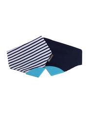 Eazy Kids Reversible 2-in-1 Teething Bib, Stars/Strips, Navy Blue