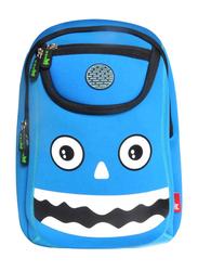Nohoo WoW School Bag for Kids, Monster, Blue