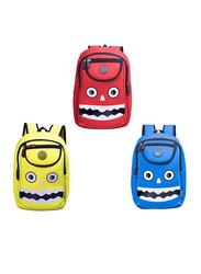 Nohoo WoW School Bag for Kids, Monster, Yellow
