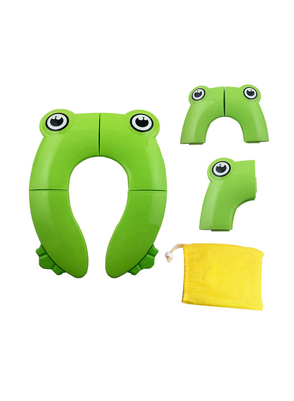 Eazy Kids Foldable Travel Potty Seat with Carry Bag for Baby, Green