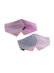 Eazy Kids Reversible 2-in-1 Teething Bib, Polka Dots/Strips, Pink