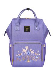 Sunveno Diaper Backpack Bag, Deer, Purple