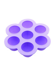 Eazy Kids Baby Food Silicone 7 Compartments Freezer Tray, Purple