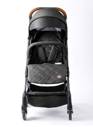 Teknum Travel Lite Baby Stroller, with Sunveno Unicorn Diaper Bag and Clutch Combo, Black