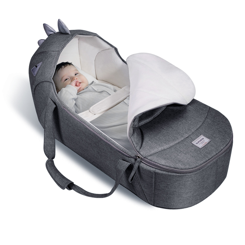 Sunveno Foldable Travel Baby Carry Cot, Grey