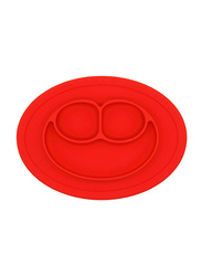 Eazy Kids Oval Silicone Plate, Red