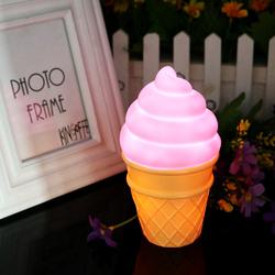 Eazy Kids Ice Cream Shape Lamp Light, Pink