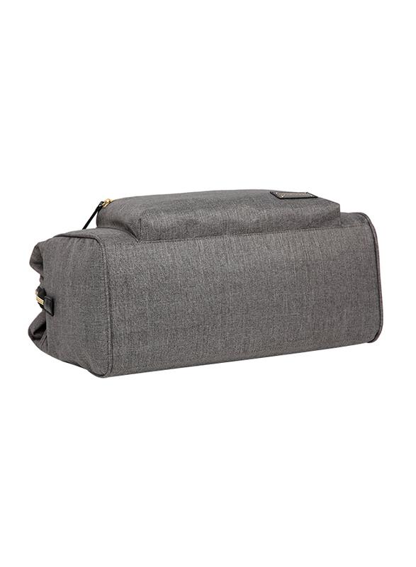 Little Story Zera Mom Dad Diaper Bag, Grey