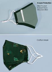 Nohoo Dinosaur Kids Reusable Face Mask, Green, One Size