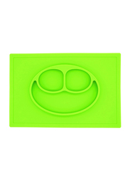 Eazy Kids Silicone Square Plate, Green