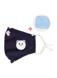 Nohoo Panda Kids Reusable Face Mask, Blue, One Size