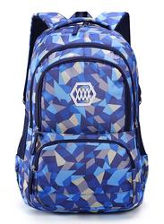 Sambox School Backpack Bag for Kids, Geometrical, XXL, Blue