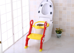 Eazy Kids Step Stool Foldable Potty Trainer Seat for Kids and Babies, Yellow