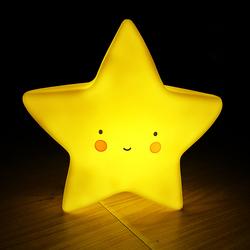Eazy Kids Star Shape Lamp Light, Yellow