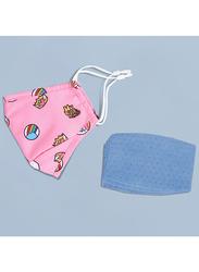 Nohoo Unicorn Kids Reusable Face Mask, Pink, One Size