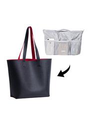 Alameda Tote Bag with Organizer Insert, Black