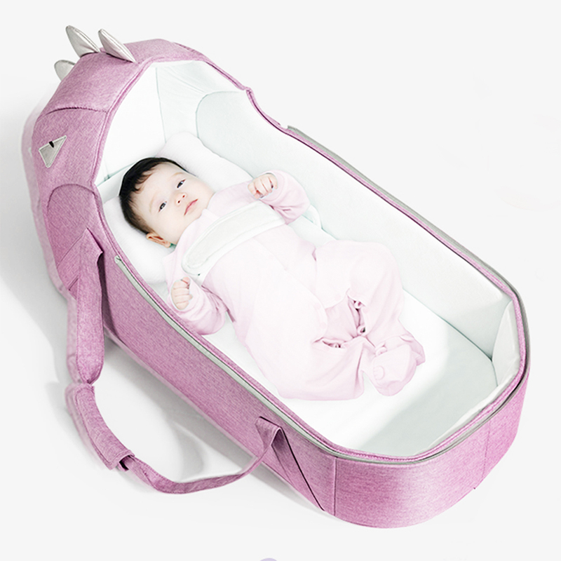 Sunveno Foldable Travel Baby Carry Cot, Pink