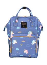 Sunveno Diaper Backpack Bag, Unicorn, Blue
