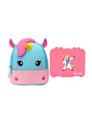 Nohoo Bento Unicorn Baby Backpack Bag, with Lunch Box, Pink