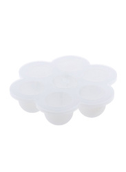 Eazy Kids Baby Food Silicone 7 Compartments Freezer Tray, White