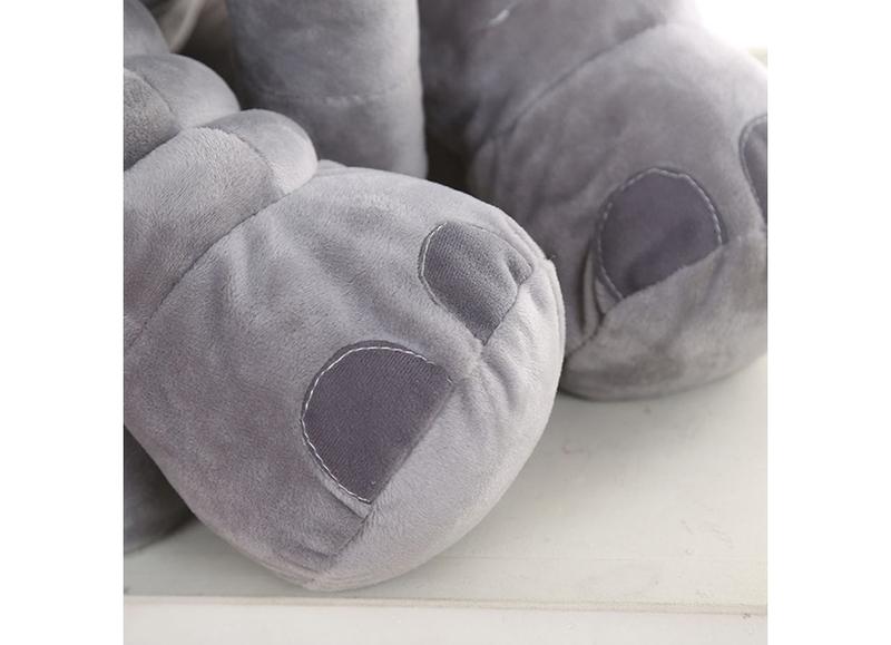 Eazy Kids Plush Elephant Shape Pillow, Medium, Grey