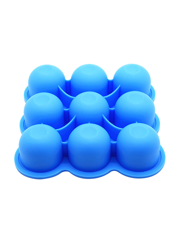 Eazy Kids Baby Food Silicone 9 Compartments Freezer Tray, Blue