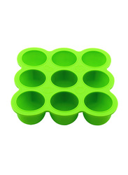 Eazy Kids Baby Food Silicone 9 Compartments Freezer Tray, Green