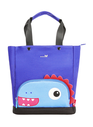 Nohoo Jungle Tote Bag for Kids, Bake Dinosaur, Blue