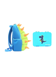 Nohoo Backpack Bag and Lunch Box School Set, Spiky Dinosaur, Green