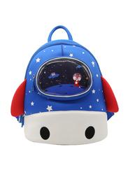 Nohoo Wow Backpack Bag for Kids, Rocket, Blue